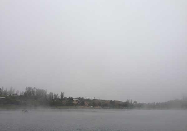 دریاچه اوان در مه