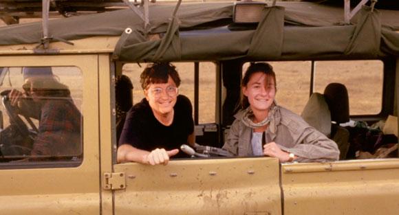 عکس بیل گیتس و ملیندا گیتس در آفریقا