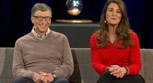 عکس بیل گیتس و ملیندا گیتس در TED