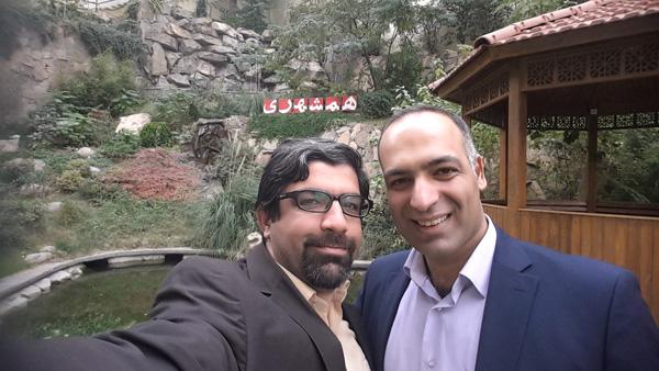 محمدرضا شعبانعلی و محسن امین در دفتر روزنامه همشهری