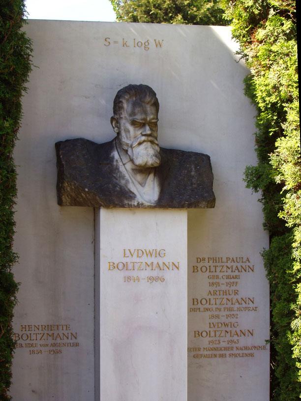 Boltzmann Gravestone سنگ قبر لودویگ بولتزمن