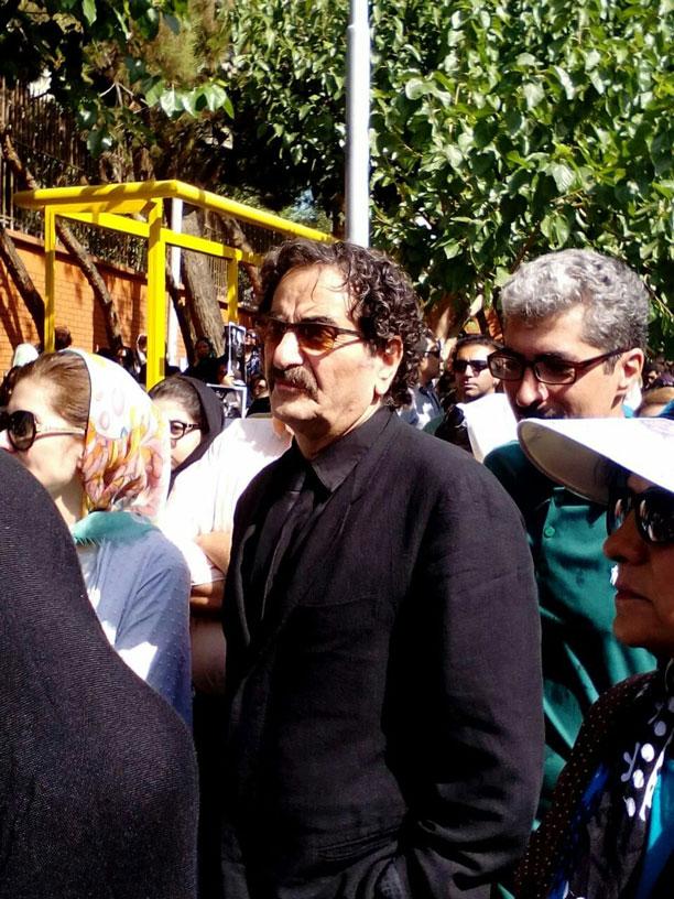 شهرام ناظری در مراسم بدرقه عباس کیارستمی