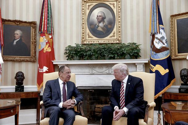 دیدار ترامپ با لاوروف وزیر خارجه روسیه