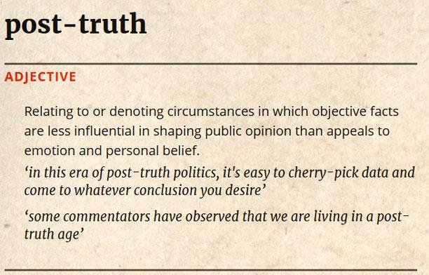 عبور از واقعیت یا Post Truth
