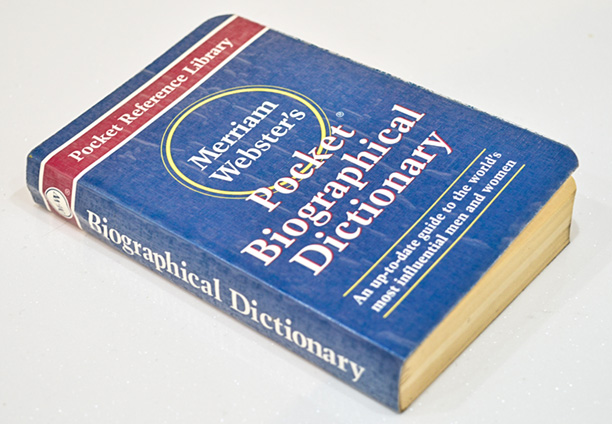 زندگی نامه های وبستر - Webster Biographical Dictionary